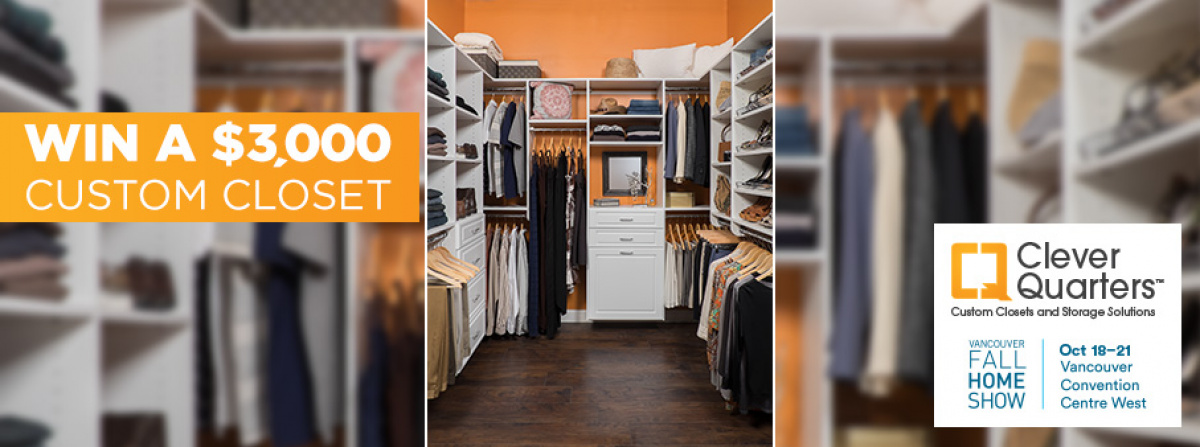 Win A $3,000 Custom Closet From Clever Quarters!